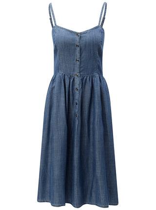 Modré šaty na ramienka Blendshe Saya