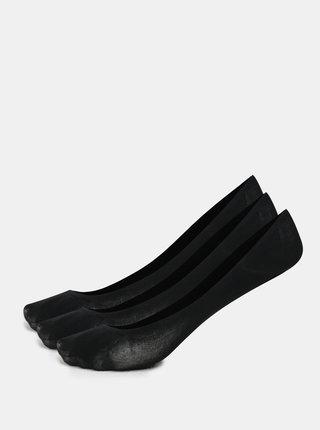Kolekcia troch párov bavlnených nízkych ponožiek v čiernej farbe Bellinda