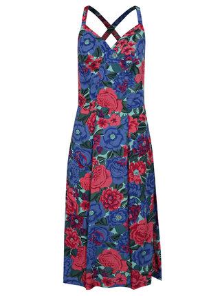 Ružovo–modré kvetované šaty Fever London Dahlia
