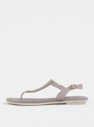 Svetlofialové sandálky s ozdobnou aplikáciou Grendha Sense