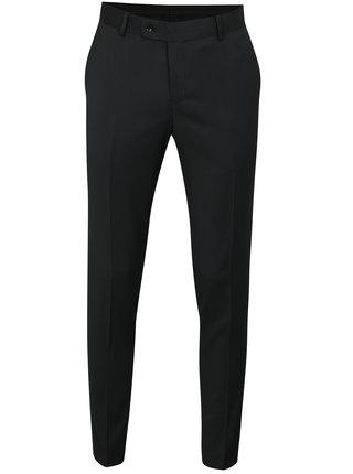 Tmavě šedé oblekové vlněné kalhoty Good Son