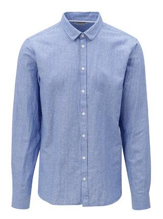 Modrá vzorovaná regular fit košile Casual Friday by Blend