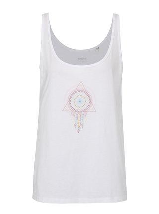 Biele dámske oversize tielko ZOOT Original Mandala