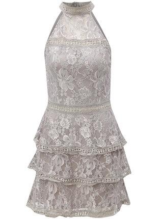 Svetlosivé kvetované šaty AX Paris