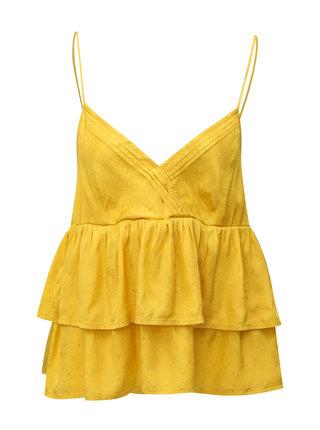 Žlutá halenka s volány VILA Antonia