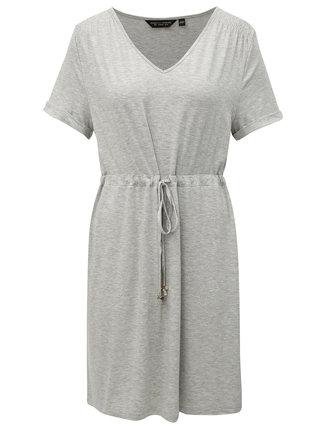 Sivé melírované šaty so zaväzovaním Dorothy Perkins
