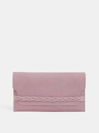 Portofel roz din piele naturala WOOX Moneta Efferta Rosea