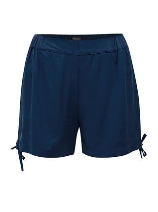 Pantaloni scurti albastru inchis cu talie inalta Broadway Florine