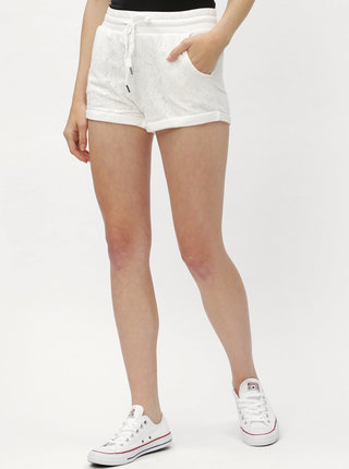Biele dámske kraťasy s čipkou Haily´s Rosy