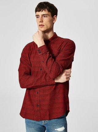 Camasa regular fit negru-rosu in carouri Selected Regval demar