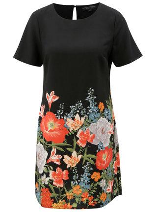 Rochie neagra cu model floral si maneci scurte Dorothy Perkins