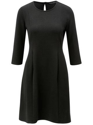 Čierne šaty s 3/4 rukávom Dorothy Perkins