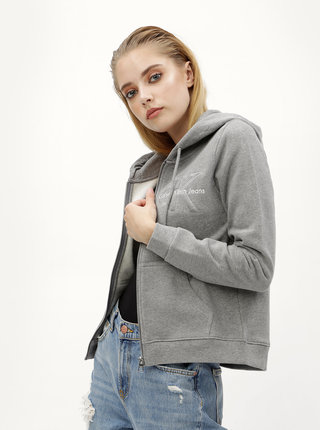 Sivá dámska mikina Calvin Klein Jeans