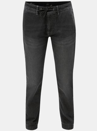 Čierne pánske nohavice s elastickým pásom Pepe Jeans
