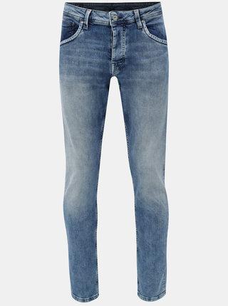 Blugi barbatesti albastri regular din denim Pepe Jeans