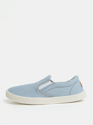 Pantofi slip on albastru deschi