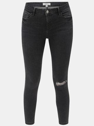 Šedé skinny džíny s potrhaným efektem Dorothy Perkins Darcy