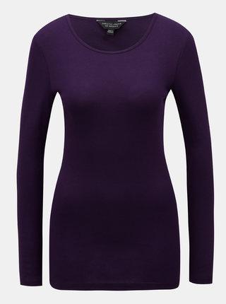 Fialové basic tričko s dlhým rukávom Dorothy Perkins