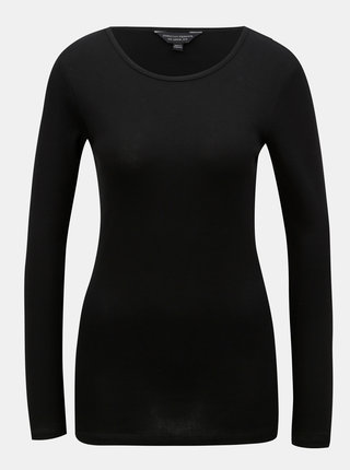 Černé basic tričko s dlouhým rukávem Dorothy Perkins