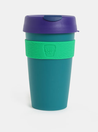Fialovo-zelený cestovný hrnček KeepCup Original Large