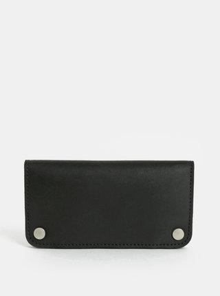 Čierna dámska kožená peňaženka WOOX