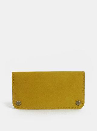 Horčicová dámska kožená peňaženka WOOX