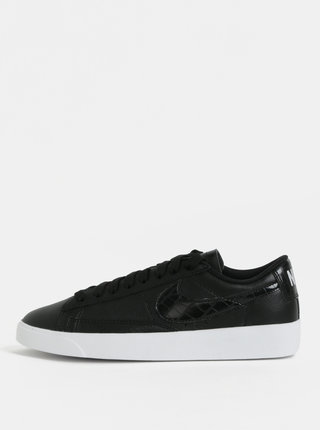 Tenisi de dama negri din piele naturala Nike Blazer Low Leather