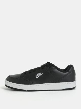 Čierne pánske kožené tenisky Nike Grandstand II