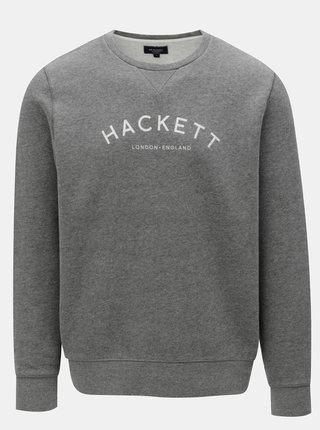 Sivá classic fit mikina Hackett London