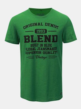 Zelené regular melírované tričko Blend