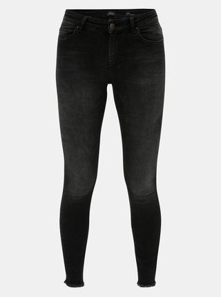 Černé skinny fit džíny s vyšisovaným efektem ONLY