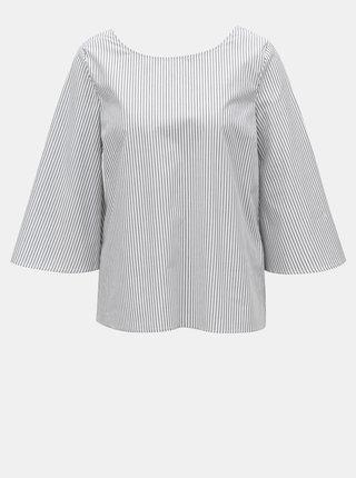 Bílo-šedá vzorovaná halenka s mašlí na zádech VILA Justy