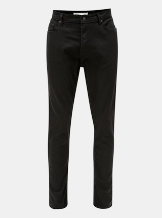 Blugi negri tapered fit din denim Burton Menswear London