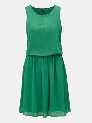 Zelené šaty s gumou v páse VERO MODA