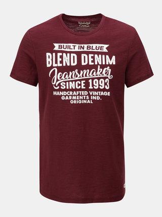 Tricou regular rosu melanj Blend