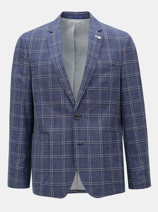 Modré kockované sako Burton Menswear London
