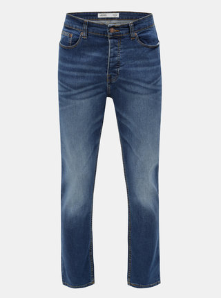 Blugi albastri stretch bootcut din denim Burton Menswear London