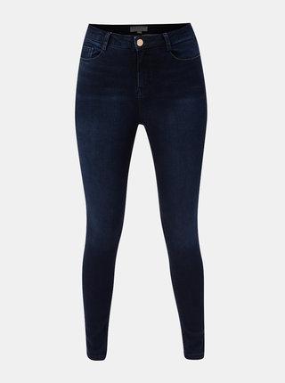 Tmavě modré skinny džíny s vysokým pasem Dorothy Perkins Shape & Lift