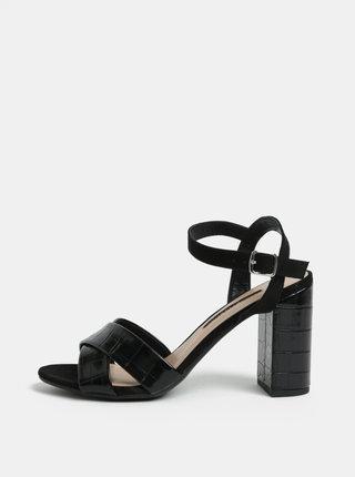 Černé sandálky na vysokém podpatku Dorothy Perkins Serena