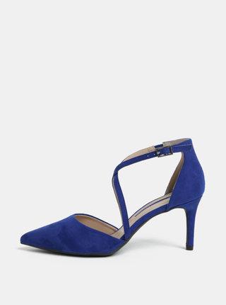 Pantofi albastri cu aspect de piele intoarsa Dorothy Perkins Elsa