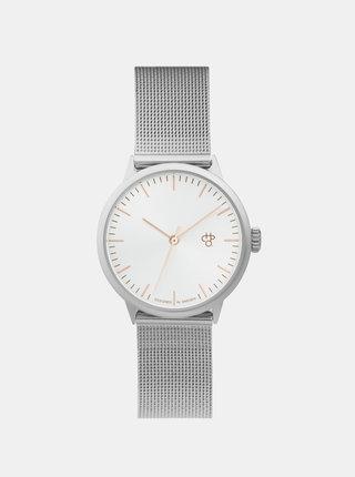 Dámske hodinky s kovovým remienkom v striebornej farbe CHPO Nando Mini Rose