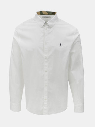 Biela košeľa s dlhým rukávom Original Penguin Poplin