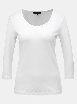Tricou alb basic cu maneci 3/4 Yest