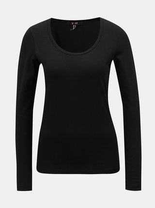 Tricou negru basic cu maneci lungi Yest