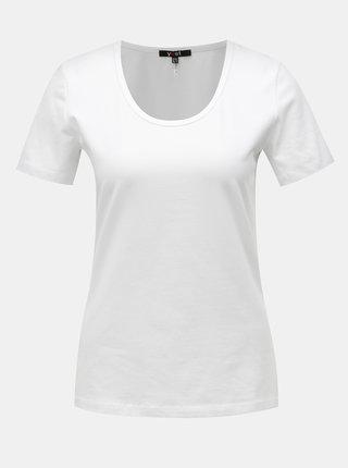 Biele basic tričko s krátkym rukávom Yest