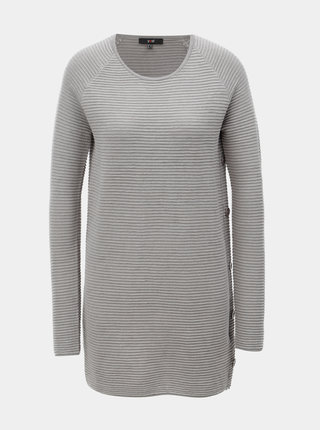 Sivý štruktúrovaný sveter s plastickým vzorom Yest