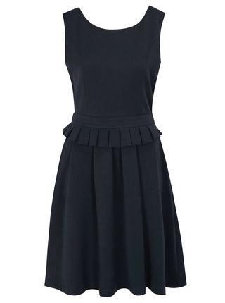 Tmavomodré šaty s opaskom Fever London Adriana