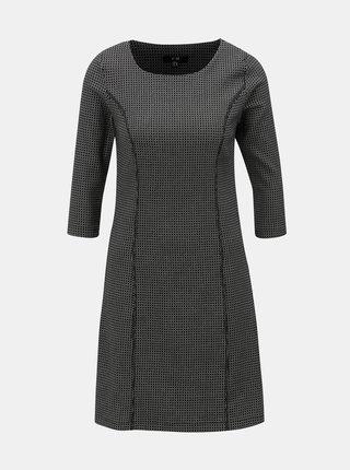 Bílo-černé vzorované šaty s 3/4 rukávem Yest