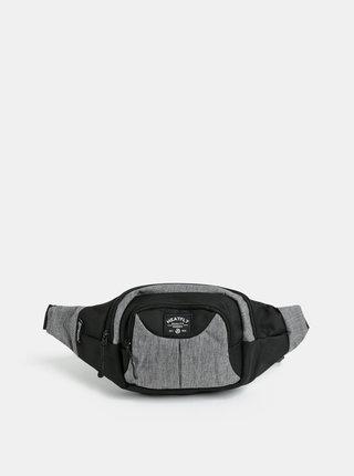 Čierno-sivá melírovaná ľadvinka s nášivkou Meatfly Wally