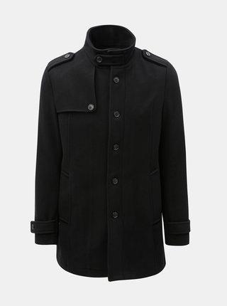 Pardesiu negru din lana Selected Homme Cevent